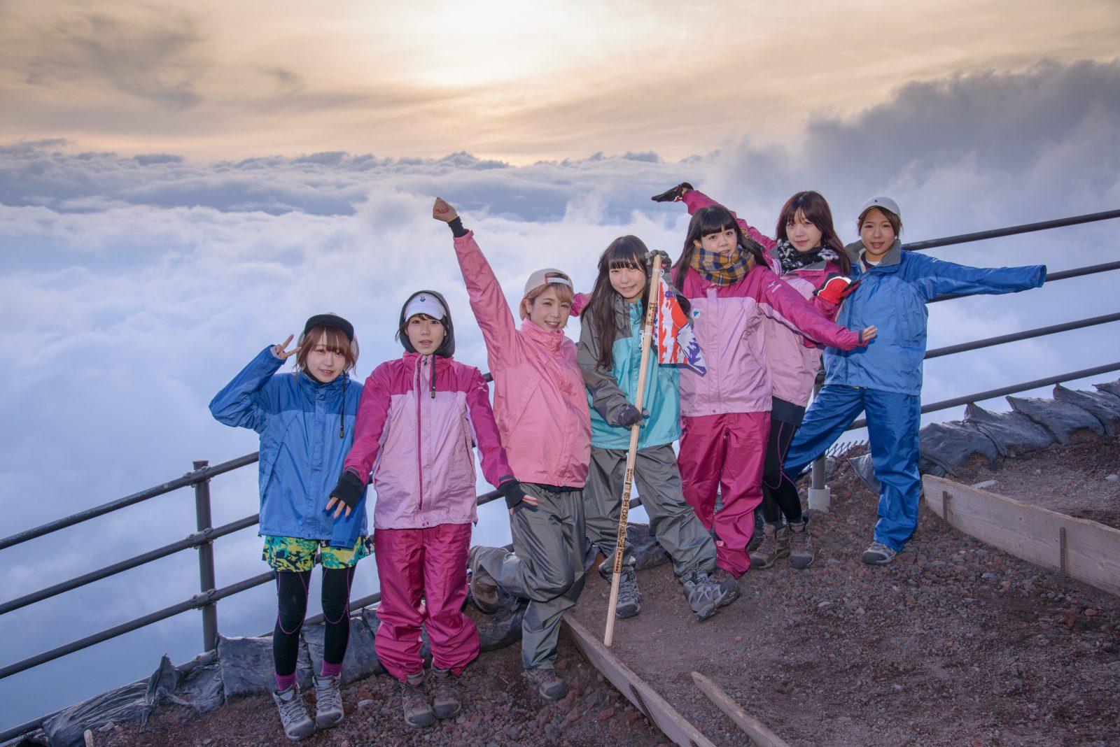 「山の日」施行記念 アイドル「2016富士山女子登山部」の日本最高峰挑戦(後編)